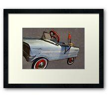Drive In Pedal Car Framed Print