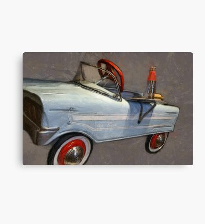 Drive In Pedal Car Canvas Print