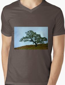 Lone Tree Mens V-Neck T-Shirt