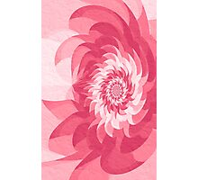Surreal fractal pink flower Photographic Print