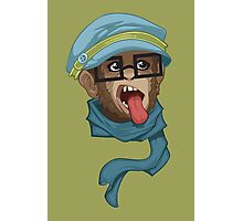 Hipster Monkey Photographic Print