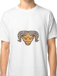 Ram Head Isolated Cartoon Classic T-Shirt