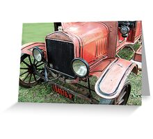 1919 Ford antique fire engine Greeting Card
