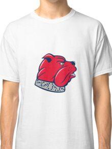 Red Bulldog Head Isolated Cartoon Classic T-Shirt