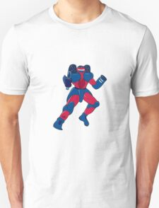 Mecha Robot Aiming Gun Isolated Unisex T-Shirt