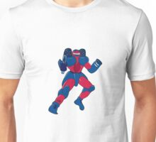 Mecha Robot Aiming Gun Isolated Unisex T-Shirt