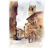 Italy oldtown Arezzo Poster