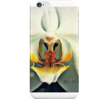 Inside a White and Yellow Orchid iPhone Case/Skin