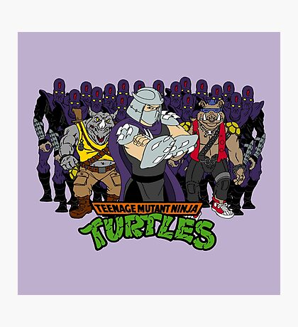 TMNT - Foot Soldiers 02 with Shredder, Bebop & Rocksteady - Teenage Mutant Ninja Turtles Photographic Print
