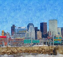 Boston Skyline by Pearle