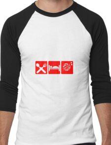 EAT SLEEP KNIT SIGN Men's Baseball ¾ T-Shirt