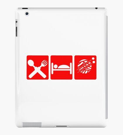 EAT SLEEP KNIT SIGN iPad Case/Skin