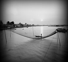 The fisherman, Vietnam by Geraldine Lefoe