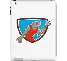 Wolf Mechanic Spanner Shield Cartoon iPad Case/Skin