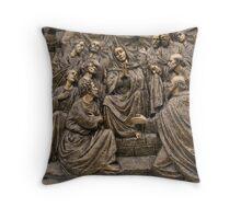 Mary Praying Throw Pillow
