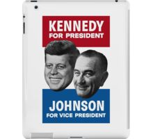 Kennedy And Johnson 1960 Election iPad Case/Skin