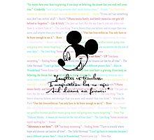 disney quotes Photographic Print