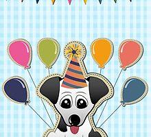 Cute Puppy Birthday Card by kennasato