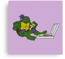 TMNT - Donatello with Pizza Canvas Print