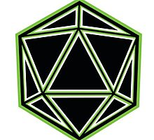 Black and Green d20 by thek8t