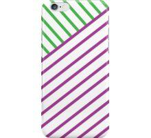 Green+Purple Line iPhone Case/Skin