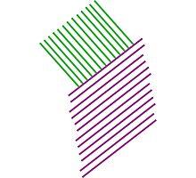 Green+Purple Line Photographic Print