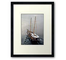 Santorini Shuttle Transfer Framed Print