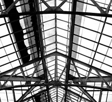 Greenhouse Glass Roof Detail   Upper Brookville, New York  by © Sophie W. Smith
