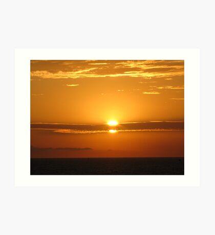 Setting Sun - 9-11 Art Print