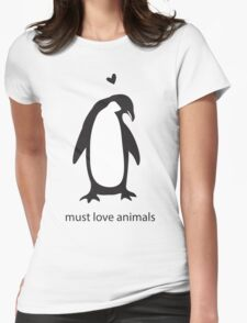 love animals 2 Womens Fitted T-Shirt