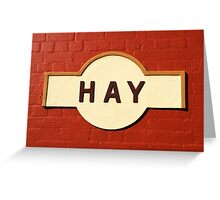 Hay Railway Station Greeting Card
