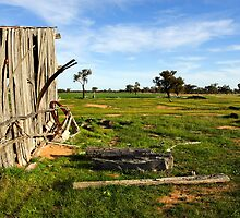 Farm shed at Mathoura by Darren Stones
