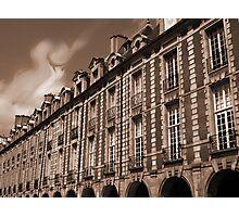 Paris - Facades at the Vosges Square Photographic Print