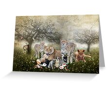 Big Cats and Small Greeting Card