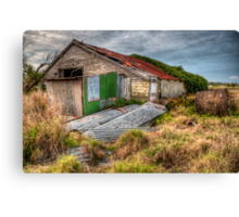 The Study of an old farm shed 2 - Experienced in HDR Canvas Print