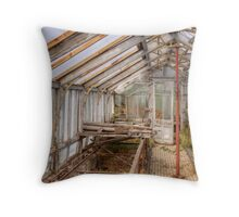In An Abandoned Glasshouse Throw Pillow