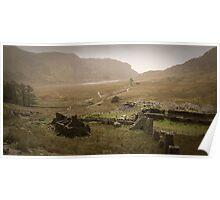 Cwmorthin village, above Blaenau Ffestiniog, North Wales Poster