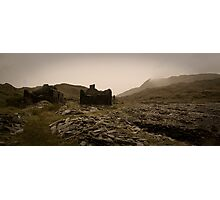 Cwmorthin village 2, above Blaenau Ffestiniog, North Wales Photographic Print