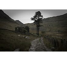 Ruined Church 2, Cwmorthin village, above Blaenau Ffestiniog, North Wales Photographic Print