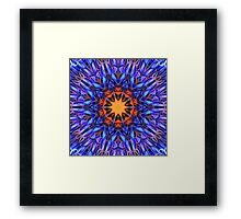 Purple Kaleidoscope 211 Framed Print