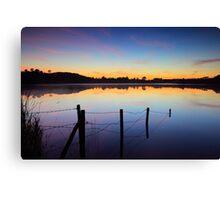 Lake at dusk Canvas Print