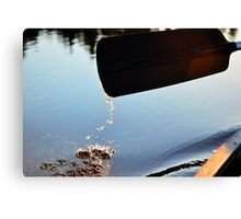 Canoe Paddle in Sunlight Canvas Print