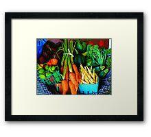 Blue Ribbon Harvest Framed Print