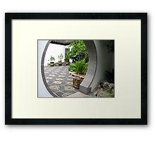 Moon Gate Framed Print