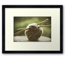 ball of yarn Framed Print