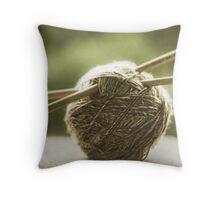 ball of yarn Throw Pillow