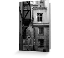 Rue des Barres Greeting Card