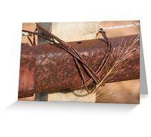 Cattle Fence Greeting Card