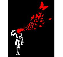 Banksy Butterfly Girl Photographic Print
