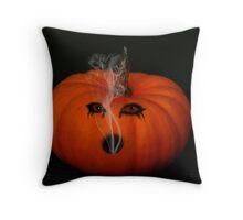~ Pumpkin Face ~ Throw Pillow